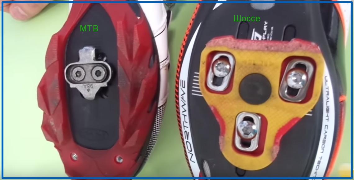 Разновидности шипов контактных педалей
