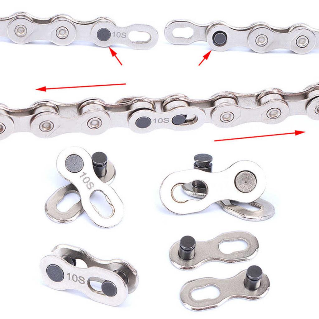 Соединение цепи с помощью замка
