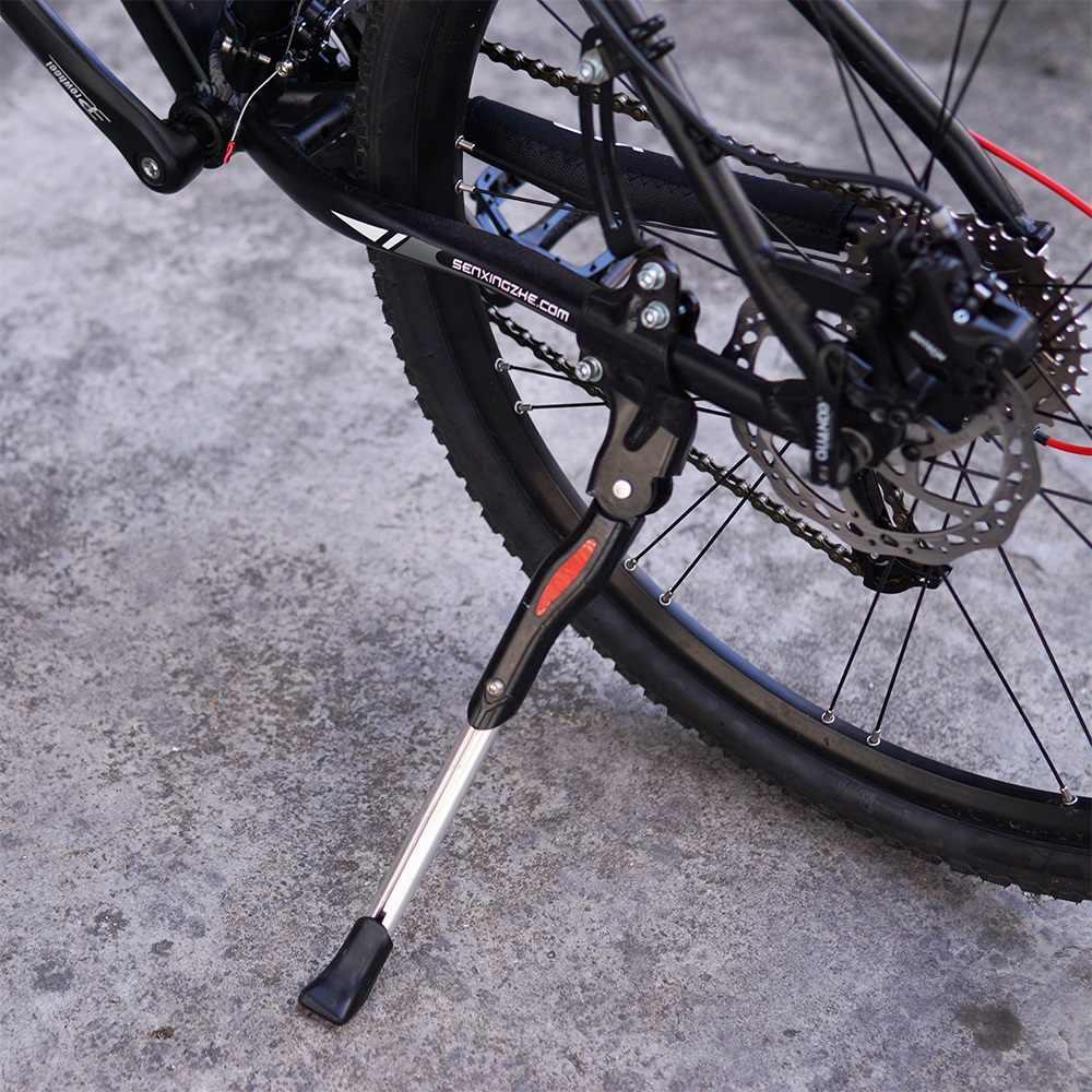 Боковая подножка с креплением за перо велосипеда